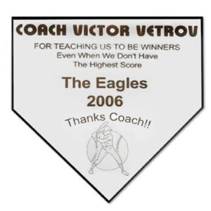 Engravable Home Plate Plaque