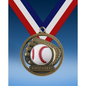 "Baseball 2"" Game Ball Medal"