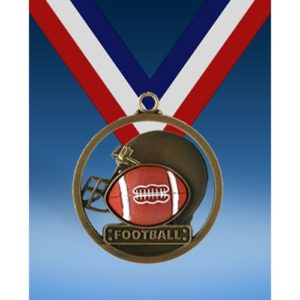 "Football 2"" Game Ball Medal"