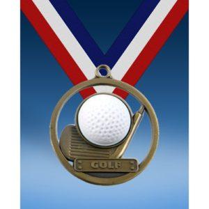"""Golf 2"""" Game Ball Medal"""