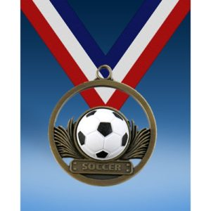 "Soccer 2"" Game Ball Medal"