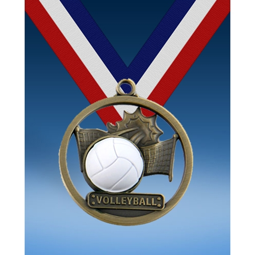 "Volleyball 2"" Game Ball Medal"