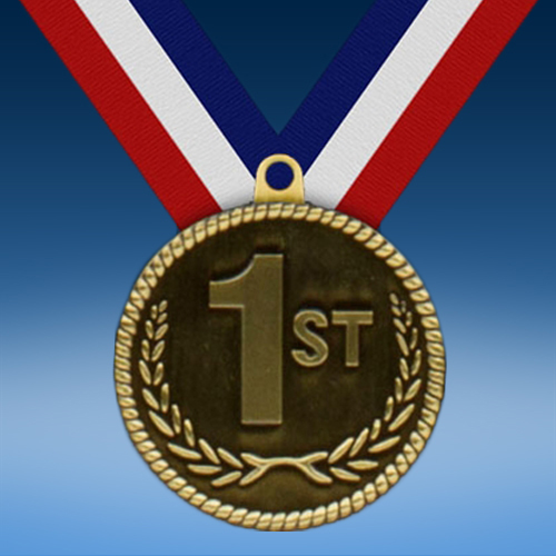 "1st 2"" High Relief Medal"