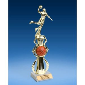 Basketball Sport Riser Trophy, Male