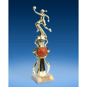 Basketball Sport Riser Trophy, Female