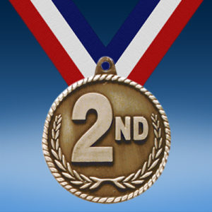 "2nd 2"" High Relief Medal"