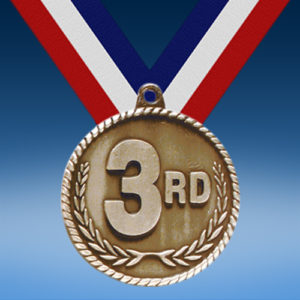 "3rd 2"" High Relief Medal"