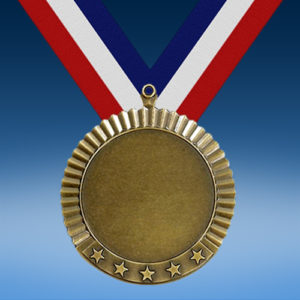 "Blank 2"" Five Star Medal-0"