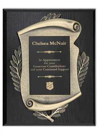 Black Oak Scroll Plaque