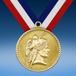 "Achievement 2"" High Relief Medal-0"