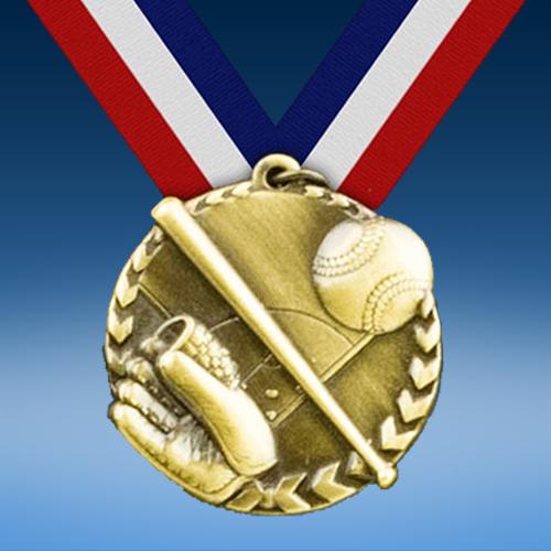 "Baseball 1 3/4"" Arrow Medal-0"