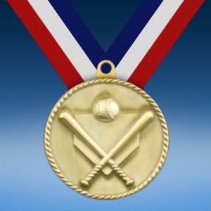 "Baseball 2"" High Relief Medal-0"