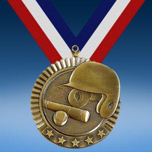 """Baseball 2 3/4"""" Five Star Medal-0"""