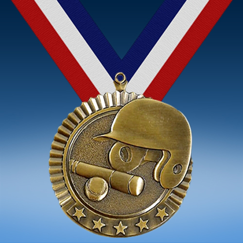 "Baseball 2 3/4"" Five Star Medal-0"