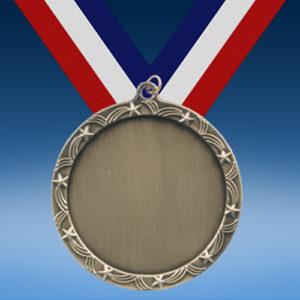 """Blank 2 1/2"""" Ten Star Medal-0"""