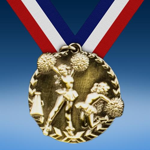 "Cheerleading 1 3/4"" Arrow Medal-0"
