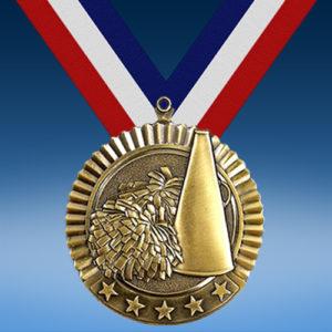 "Cheerleading 2 3/4"" Five Star Medal-0"