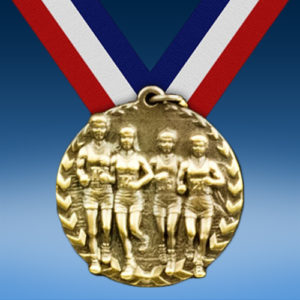 "Cross Country 1 3/4"" Arrow Medal-0"