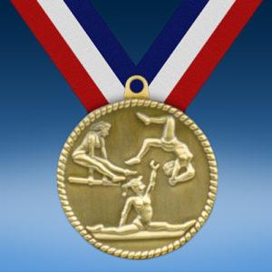 """Female Gymnastics 2"""" High Relief Medal-0"""