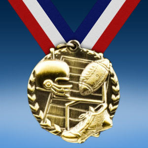 "Football 1 3/4"" Arrow Medal-0"