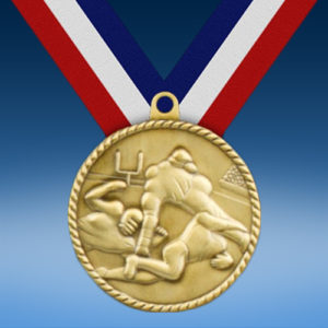 "Football 2"" High Relief Medal-0"