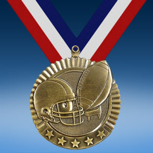 "Football 2 3/4"" Five Star Medal-0"