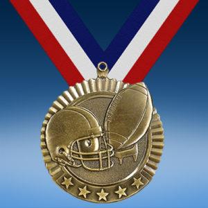 "Football 2 3/4"" Five Star Medal-0"