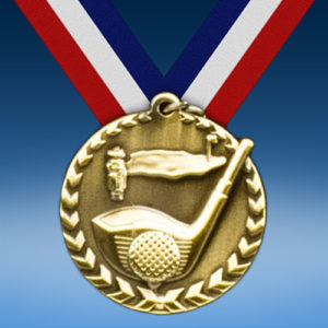 "Golf 1 3/4"" Arrow Medal-0"