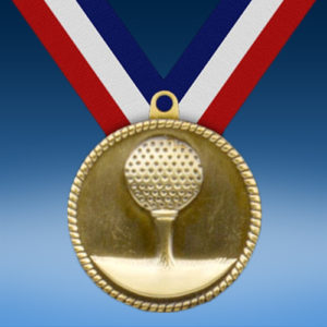 """Golf 2"""" High Relief Medal-0"""