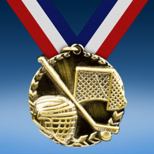 "Hockey 1 3/4"" Arrow Medal-0"
