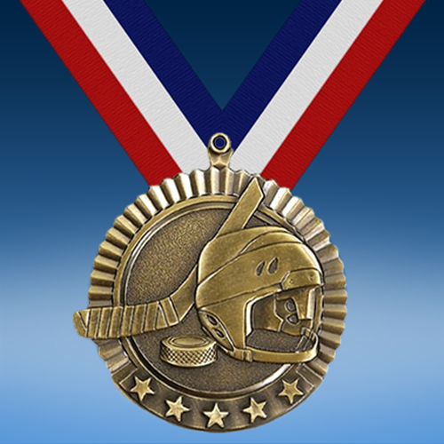 "Hockey 2 3/4"" Five Star Medal-0"