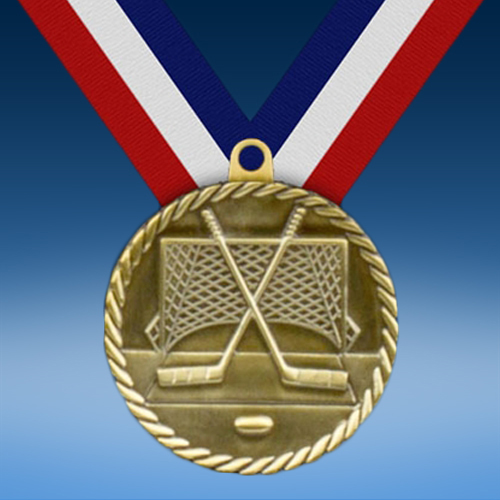 "Hockey 2"" High Relief Medal-0"