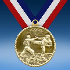 "Karate 2"" High Relief Medal-0"