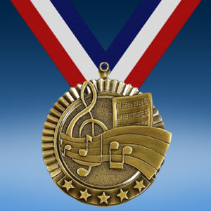 "Music 2 3/4"" Five Star Medal-0"