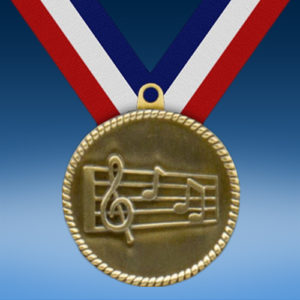 "Music 2"" High Relief Medal-0"