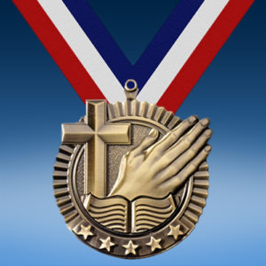 "Religion 2 3/4"" Five Star Medal-0"