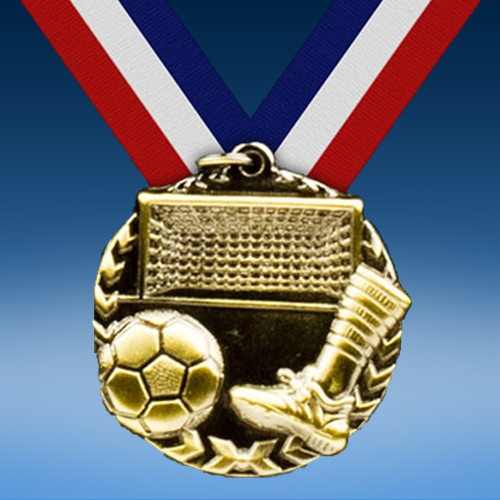 "Soccer 1 3/4"" Arrow Medal-0"