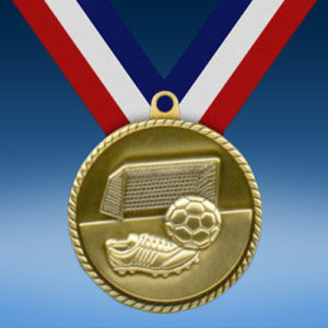 "Soccer 2"" High Relief Medal-0"