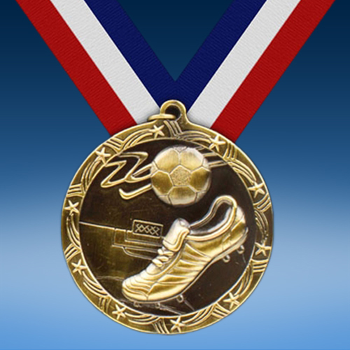 "Soccer 2 1/2"" Ten Star Medal-0"