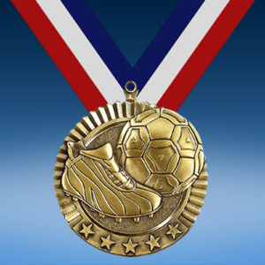 "Soccer 2 3/4"" Five Star Medal-0"