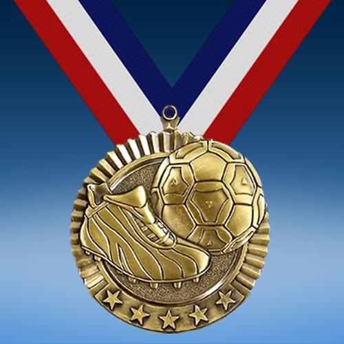 """Soccer 2 3/4"""" Five Star Medal-0"""