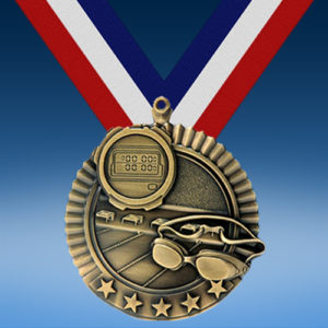 "Swimming 2 3/4"" Five Star Medal-0"