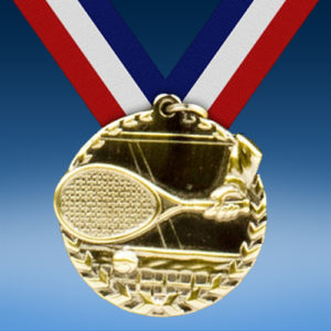 "Tennis 1 3/4"" Arrow Medal-0"