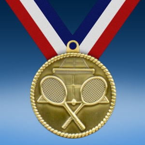 "Tennis 2"" High Relief Medal-0"