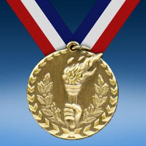"Torch 1 3/4"" Arrow Medal-0"
