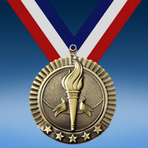 """Victory 2 3/4"""" Five Star Medal-0"""