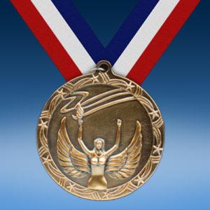 "Victory 2 1/2"" Ten Star Medal-0"