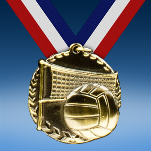 "Volleyball 1 3/4"" Arrow Medal-0"