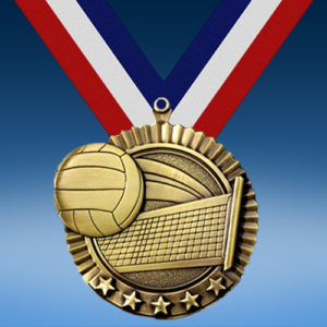 "Volleyball 2 3/4"" Five Star Medal-0"