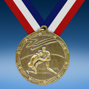 "Wrestling 2 1/2"" Ten Star Medal-0"